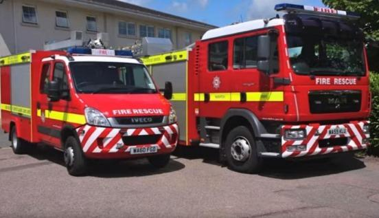 Devon And Somerset Fire And Rescue Service engines