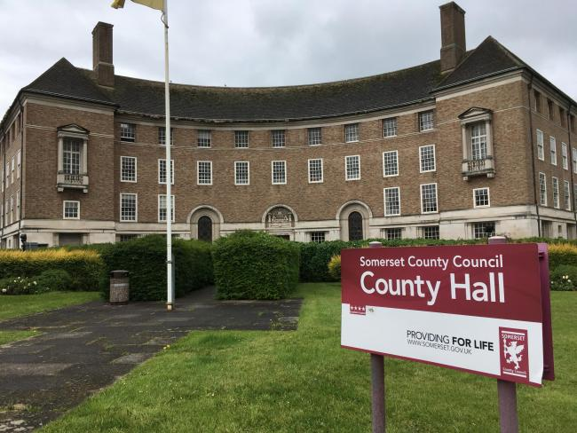 COUNTY HALL: Somerset County Council's headquarters