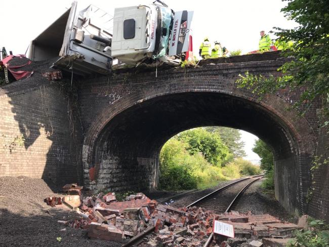 The scene of the crash. PIC: Network Rail
