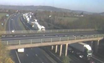 HOLD-UP: Traffic queuing on the M5 Southbound at 10.15am