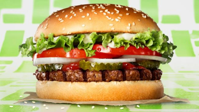 PLANT-BASED: But unsuitable for vegans or vegetarians, say Burger King