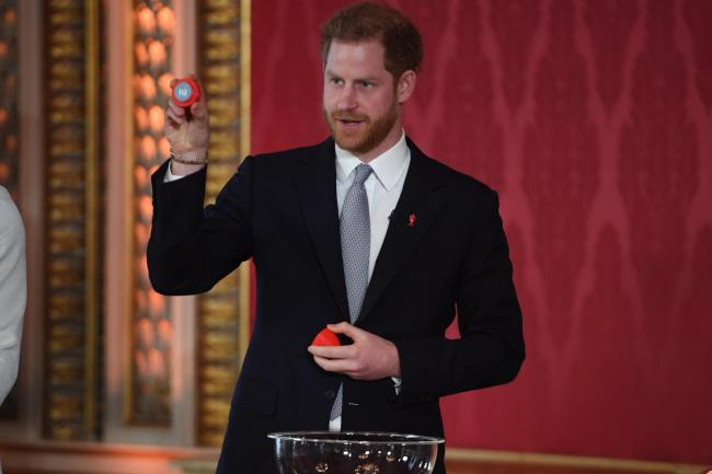 The Duke of Sussex helped conduct the draw