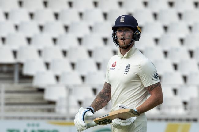 England batsman Ben Stokes leaves the field after being dismissed