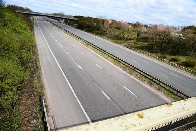 M5 quiet in Taunton as people following coronavirus social distancing