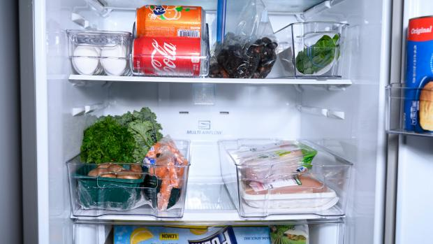 Yeovil Express: Use an organising set to create more storage zones in your fridge. Credit: Reviewed / Betsey Goldwasser