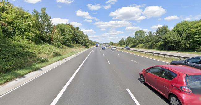 SCENE: The northbound M5 between junctions 15 and 14. PICTURE: Google Street View