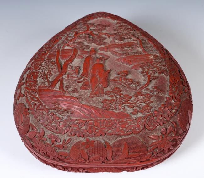 UP FOR AUCTION: The Chinese heart-shaped box, which is valued at between £2,000 and £4,000