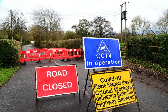 Road closures in Somerset