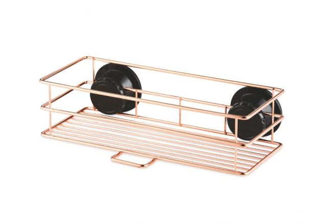 Yeovil Express: Rose Gold Shower Basket. (Aldi)