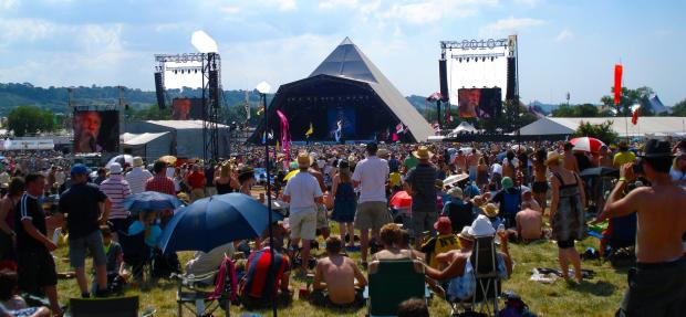 Yeovil Express: NOW: The current incarnation of the Pyramid Stage at Worthy Farm. PICTURE: Paul Jones
