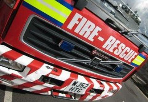 Chimney fire in Martock