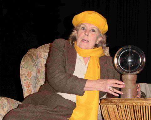 Yeovil Express: PICTURE: Jackie Bowyer plays Madame Arcati in Ilminster Entertainments Society's production of Blithe Spirit.