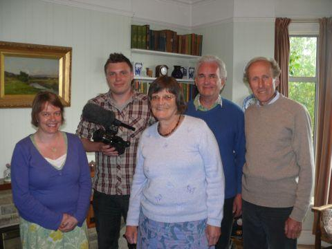 Yeovil Express: FIONA Price (left), Chris Taviner, Elspeth Waldie, Jon Lewes and Roland Chant, of Ilminster charity Purple Field Productions, who are looking for support as they prepare to shoot an educational film on Cerebral Palsy in Kenya. PHOTO: Jamie Brooks