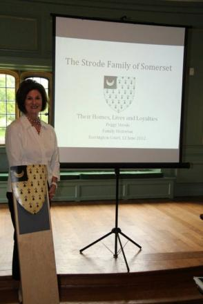 PEGGY Strode gave a talk on the history of the Strode family at Barrington Court.