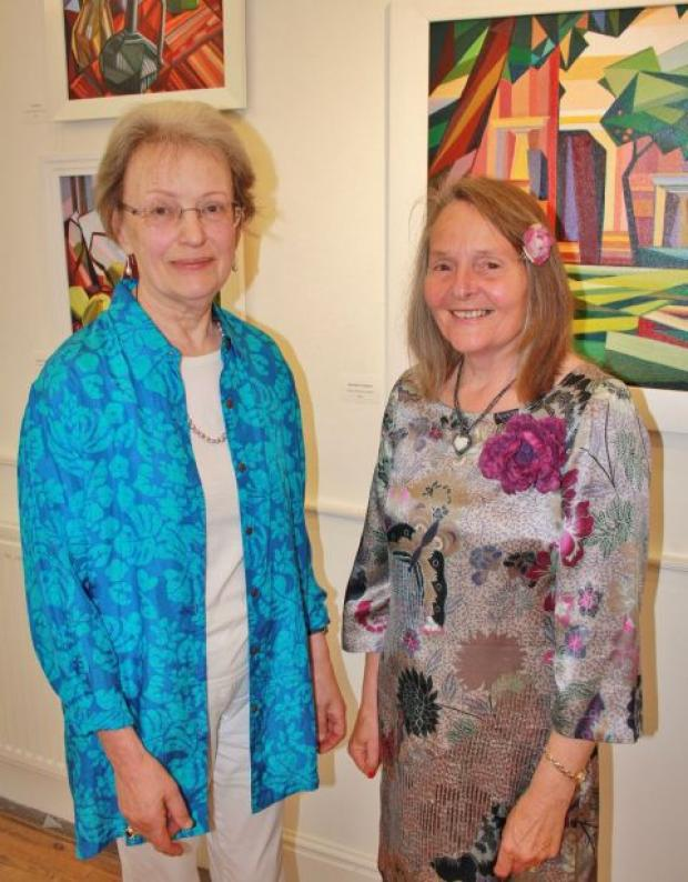 Yeovil Express: FELICITY Brichieri-Colombi and Barbara Whiteley, whose exhibition Double Vision is on show at Ilminster Arts Centre. PHOTO: Jason Richardson.