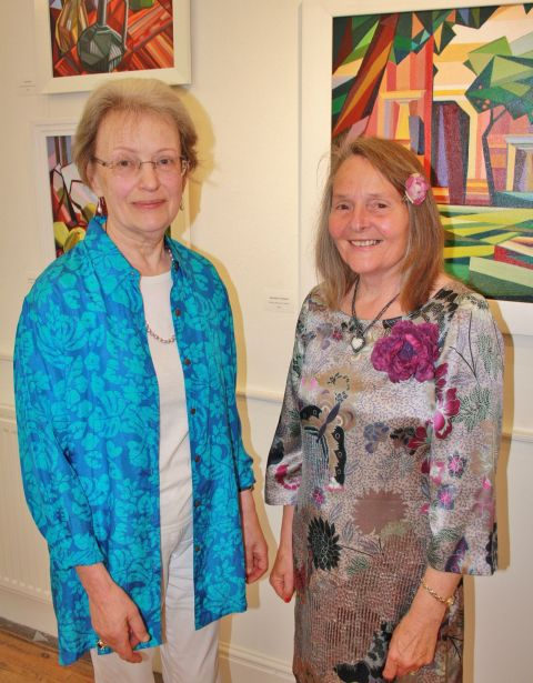 FELICITY Brichieri-Colombi and Barbara Whiteley, whose exhibition Double Vision is on show at Ilminster Arts Centre. PHOTO: Jason Richardson.