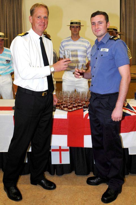 Commodore Paul Chivers and AET Sam Lyndon