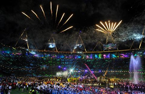Yeovil Express: The games closed with a spectacular ceremony