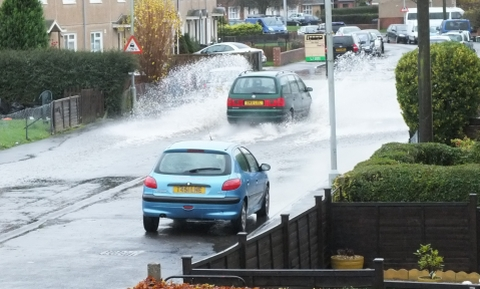 Flooding in Fairfax Road, Bridgwater.