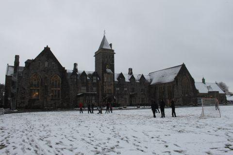 Yeovil Express: Taunton School in the snow. January 23, 2013