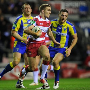 Wigan star Sam Tomkins, centre, was named Man of Steel in 2012