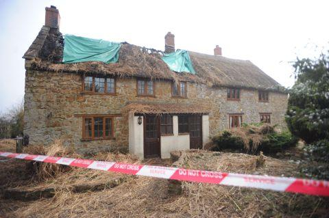 Cottage owners left shocked by thatch roof fire