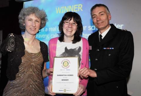 Deb Criddle, Samantha Hobbs and Ch Supt Daimon Tilley, of sponsors Avon and Somerset Police