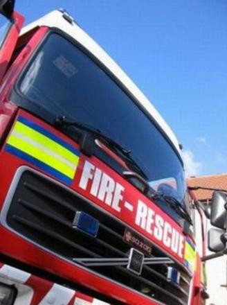 FIRE crews from across Somerset tackled the blaze near Muchelney.