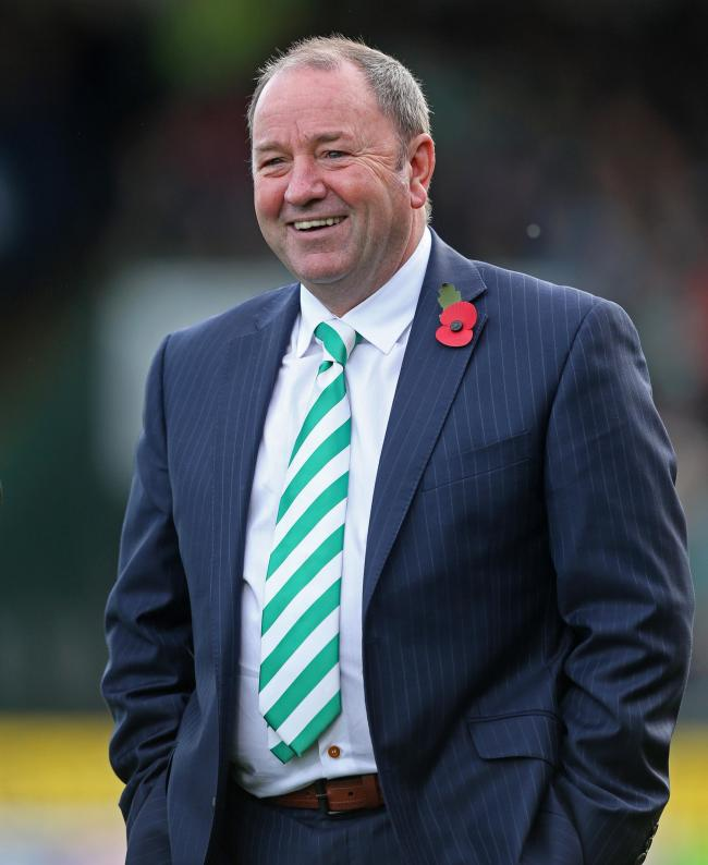 Yeovil Town manager Gary Johnson.
