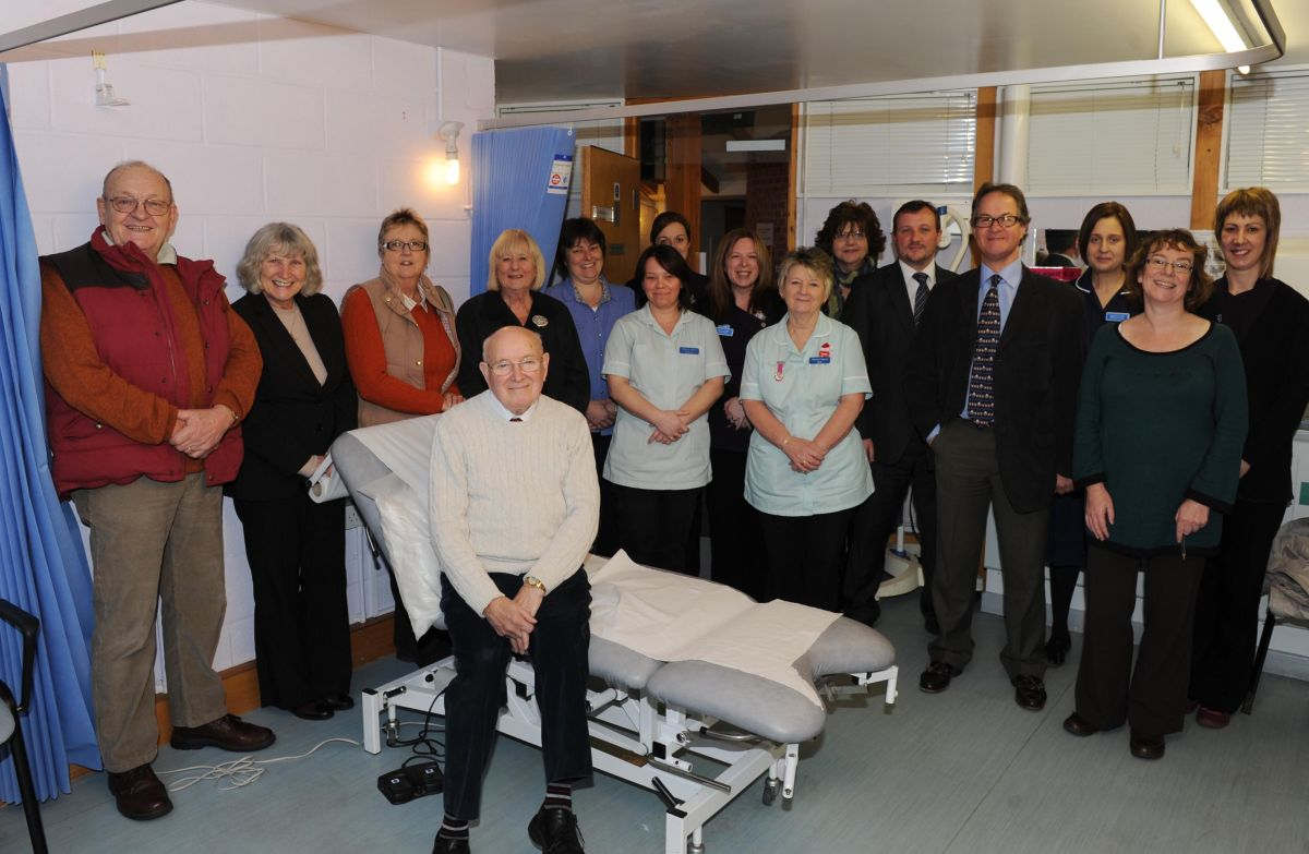 SURGERY staff and members of the Friends of