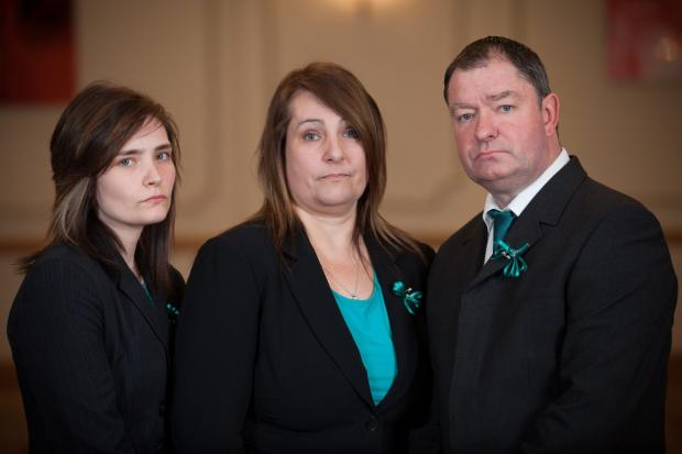 Yeovil Express: LEANNE, Jayne and Philip Wells-Burr.