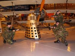 Heightened security is on at RNAS Yeovilton ahead of the planned Dalek invasion at the Fleet Air Arm Museum.