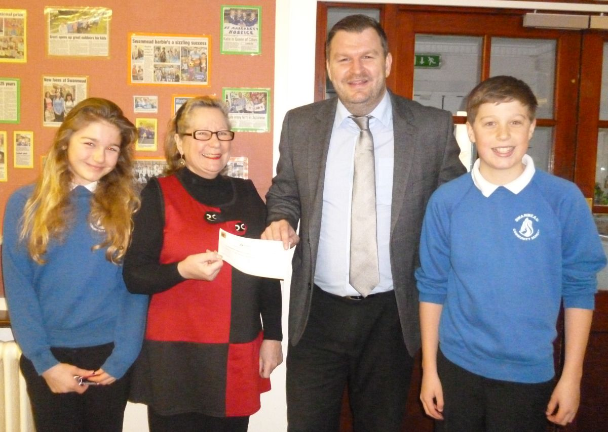Celebrations at five schools near Ilminster after £1,000 grant each