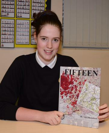 ALICE Beresford with her book, Fifteen.