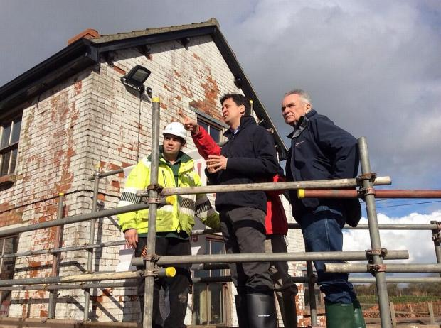 Yeovil Express: Labour leader Ed Miliband on his visit to Somerset. Photo: Ed Miliband Twitter.