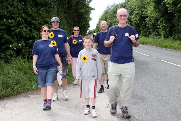 Yeovil Express: Great Somerset Walk in aid of St Margaret's Hospice