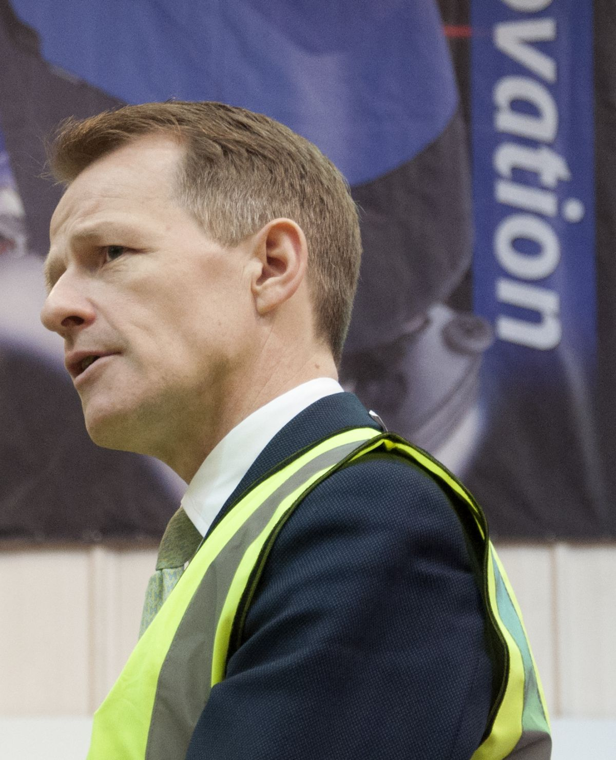 DAVID Laws MP during his visit to Numatic.