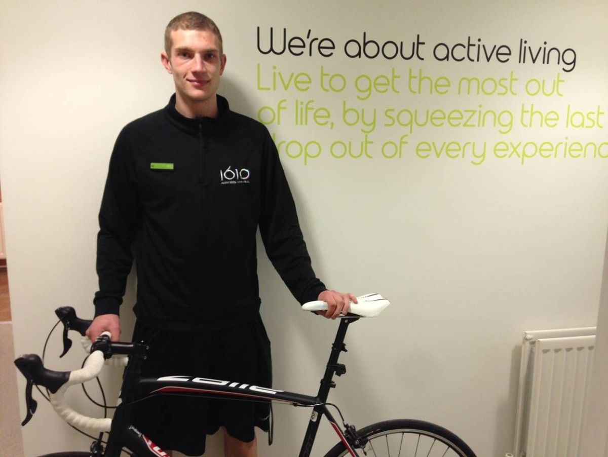 Yeovil man's cycle challenge between 1610 sports centres