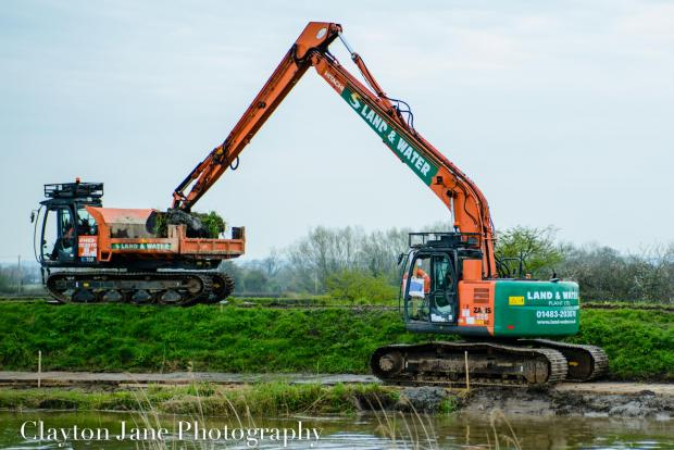 Yeovil Express: Dredging has begun along the River Parrett today. Picture by Clayton Jane claytonjane.co.uk