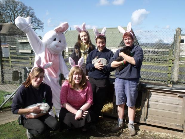Staff at Ferne Animal Sanctuary.