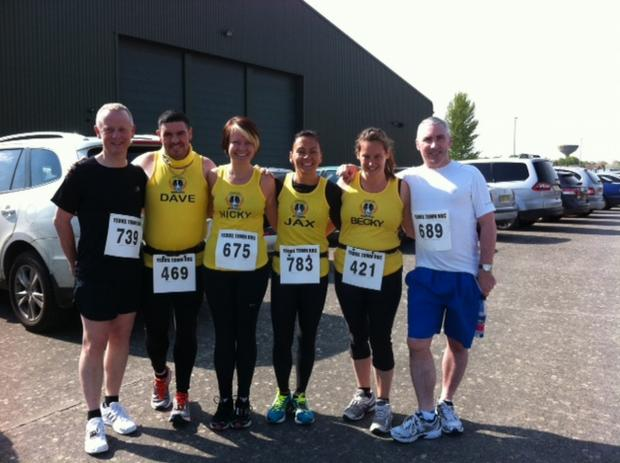 Chard runners tackle Yeovilton Easter 10k