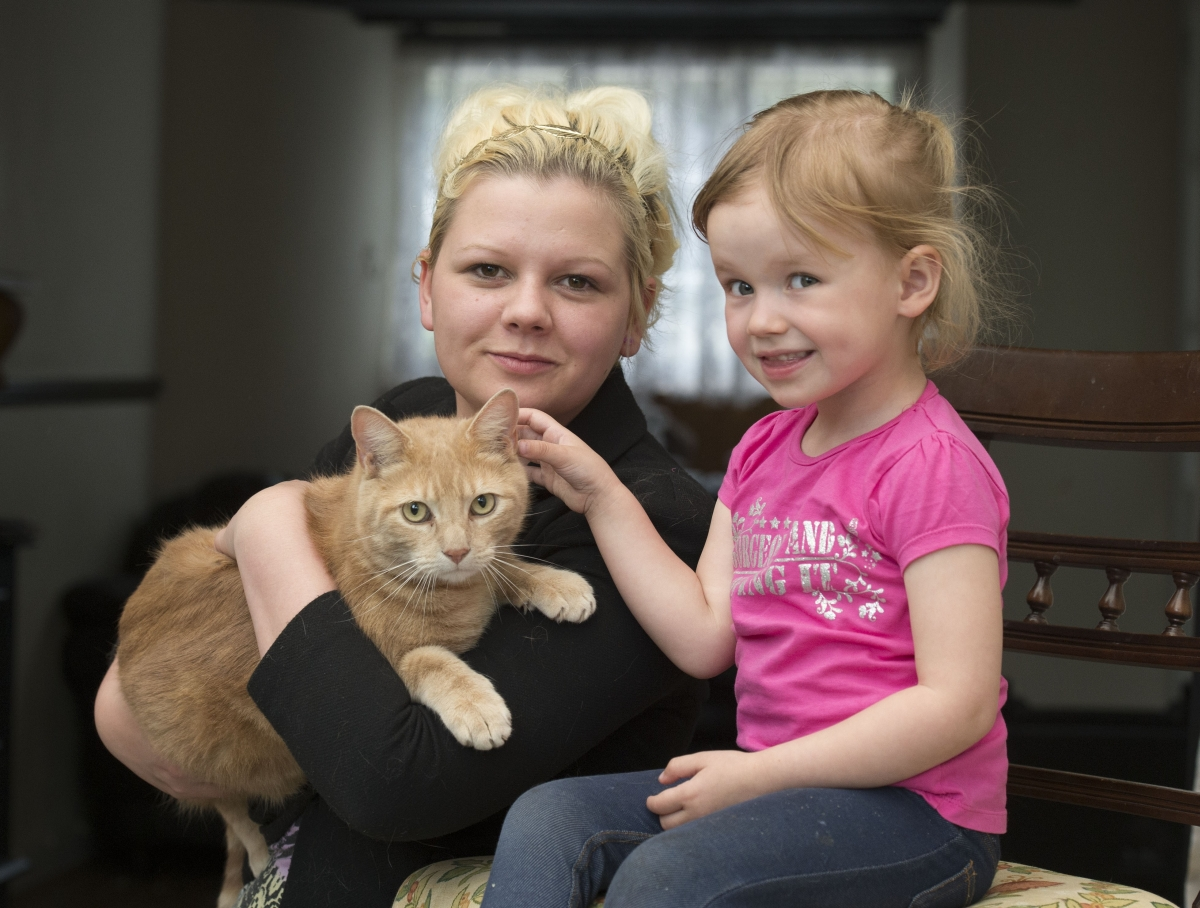 Winsham baby survives meningitis scare from pet cat