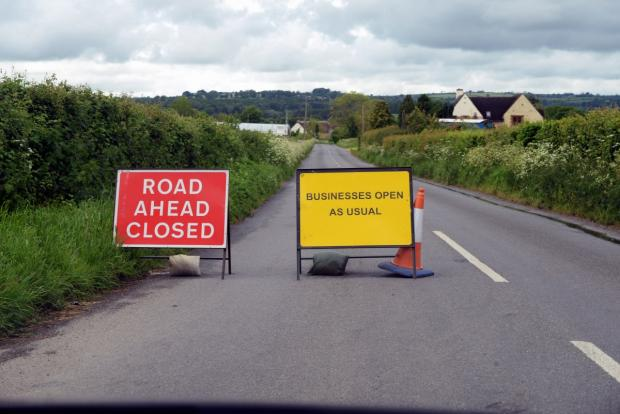 Yeovil Express: Business owner angered by road closure between Chard and Ilminster