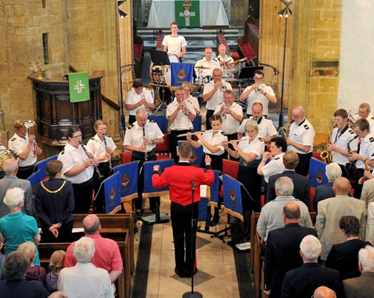 HMS Volunteer Royal Naval Band sound at a past concert.