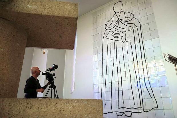 Yeovil Express: PHIL Grabsky films Matisse's Chapel in Vence. PHOTO: David Bickerstaff.