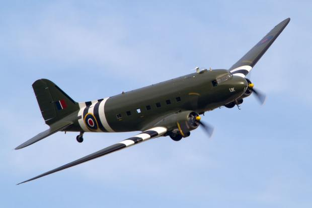 A BATTLE of Britain Memorial Flight Dakota. PHOTO: Paul Johnson.