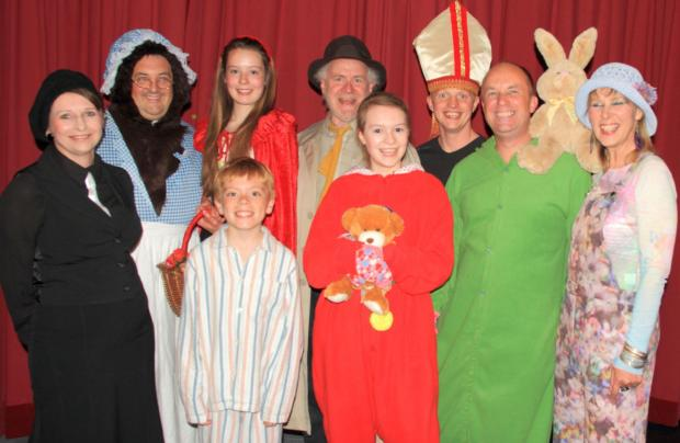 ILMINSTER Entertainments Society's full cast of The Boy Who Fell Into A Book.