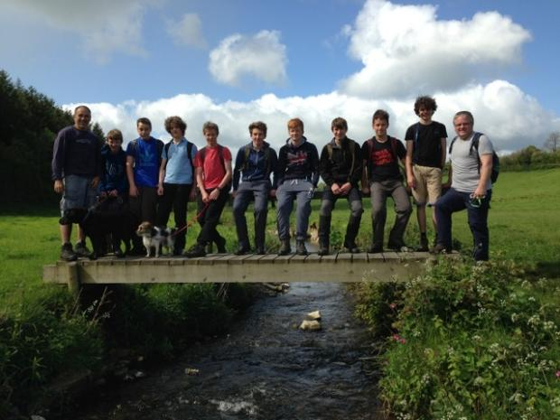 Chard Rugby Club under 16s take on 3 peaks challenge