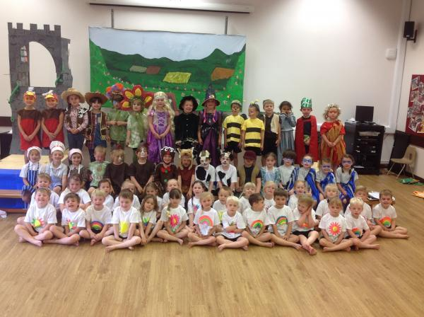 Redstart Primary School The Gingerbread Man and Rapunzel play