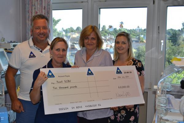 £10,000 donation breathes 'New Life' into Yeovil Hospital's Flying Colours Appeal